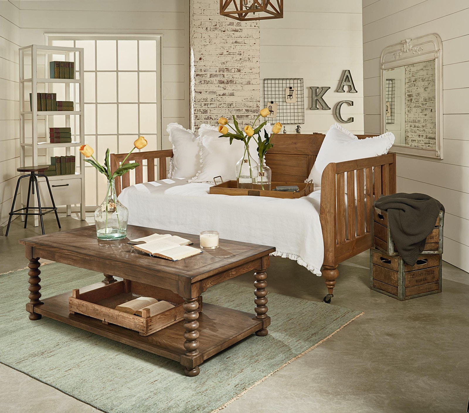 Magnolia Home Bedroom Primitive Elegance Daybed 051509 - Furniture Fair - Cincinnati u0026 Dayton OH ...