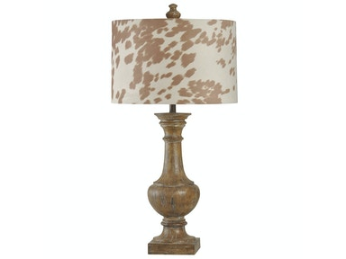 Cowhide Table Lamp 051653