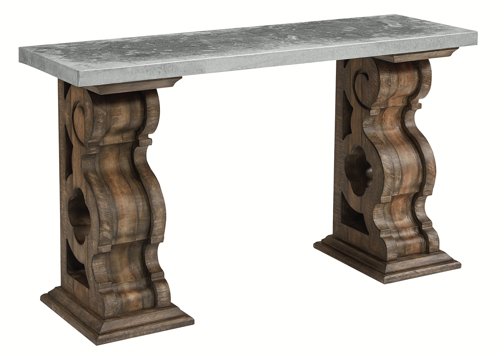 Magnolia home living room double pedestal console table 052002 magnolia home double pedestal console table 052002 geotapseo Choice Image
