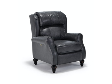 Smoke Leather Power Recliner 052098