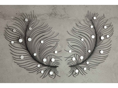 Sculpted Feather Mirror Pair 053340