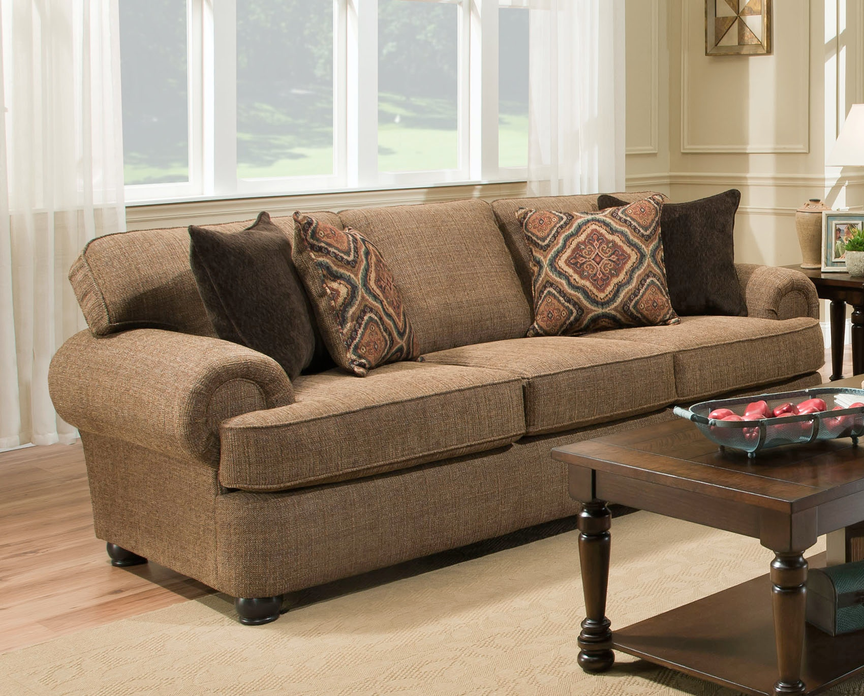 Simmons Upholstery Living Room Shelby Sofa Furniture Fair