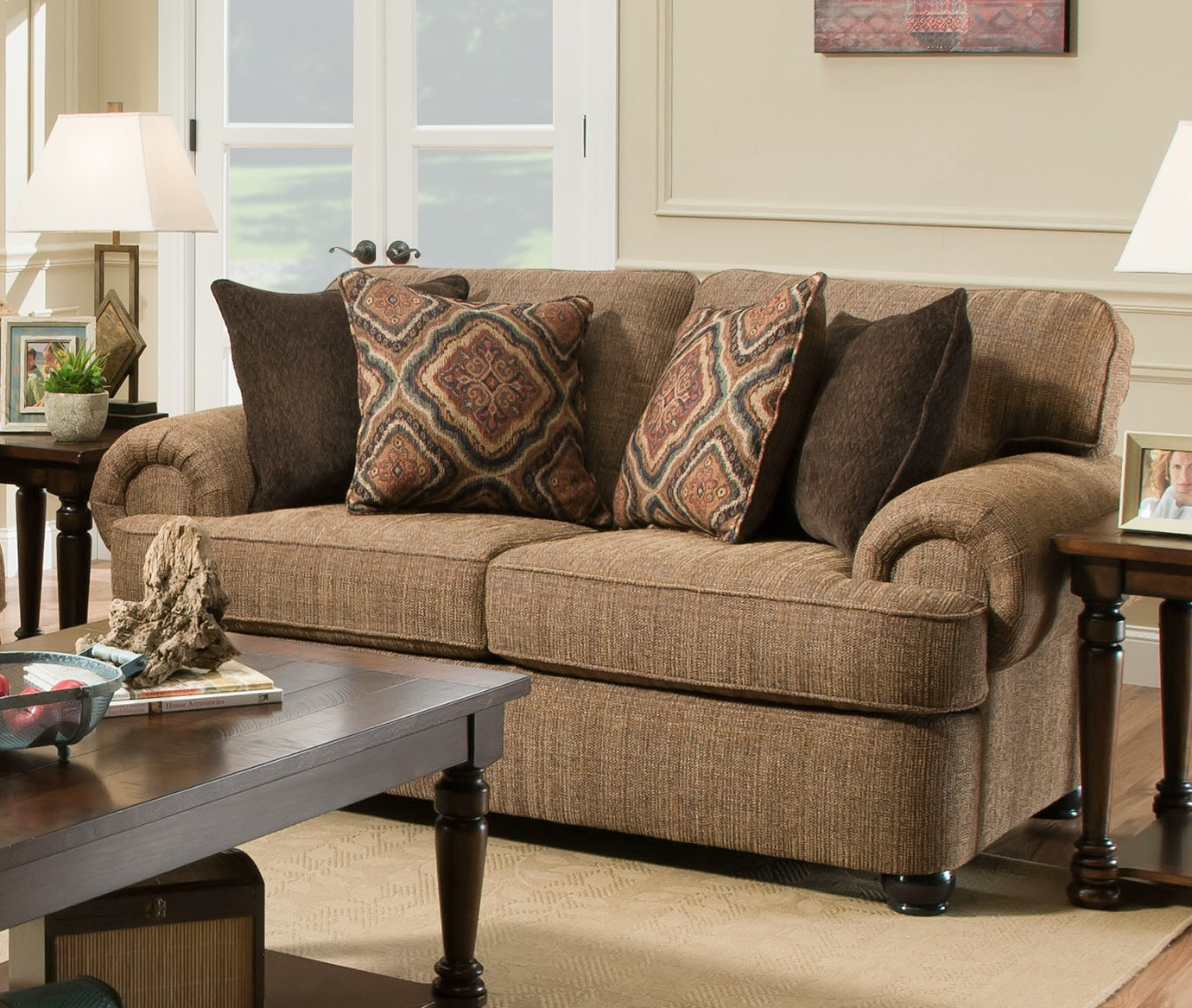 Simmons Upholstery Living Room Shelby Sofa 053359 - Furniture Fair - Cincinnati u0026 Dayton OH and ...