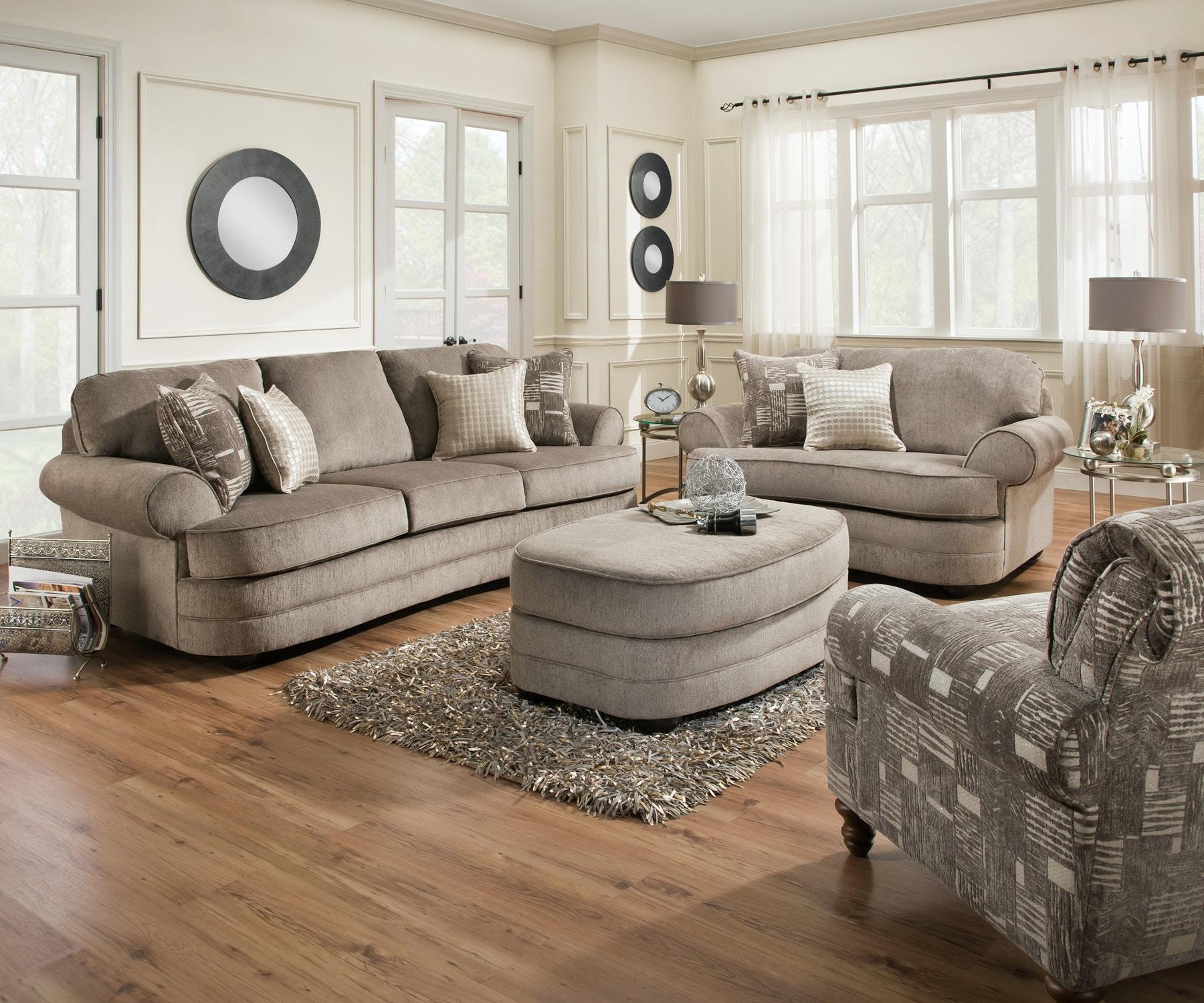 Simmons Upholstery Living Room Kingsley Sofa Furniture