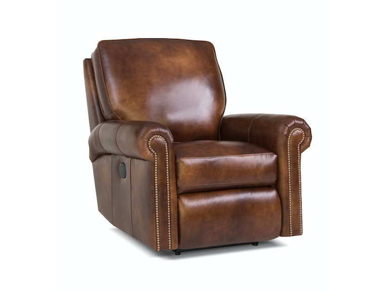 Smith Brothers Living Room Pressback Leather Reclining Chair 053418 Furniture Fair