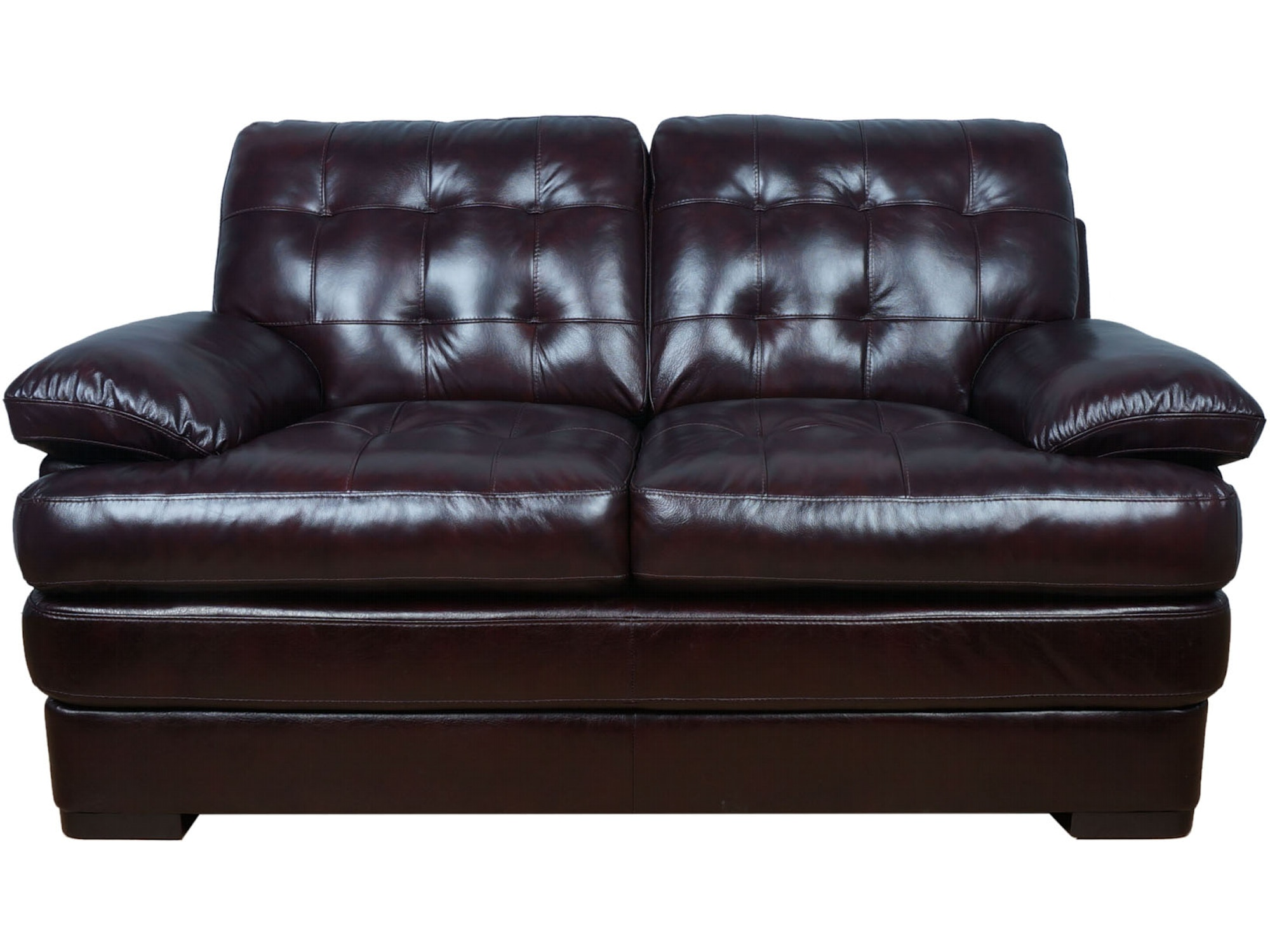 Salerno Leather Loveseat 053644