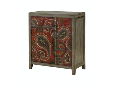 Paisley Red Accent Cabinet 053805