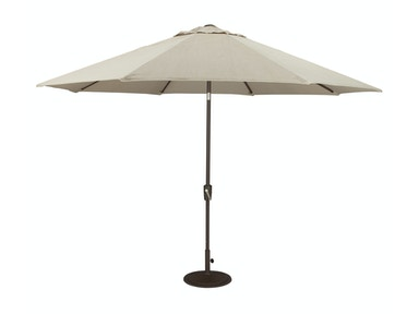 Auto Tilt Umbrella and Base - Beige 419723