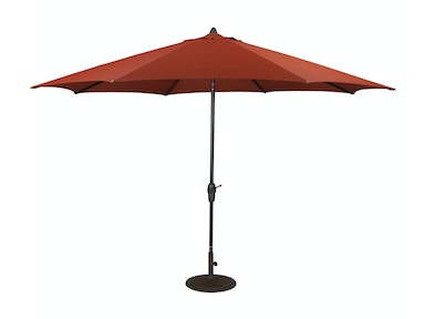 Auto Tilt Umbrella and Base - Burnt Orange 541286