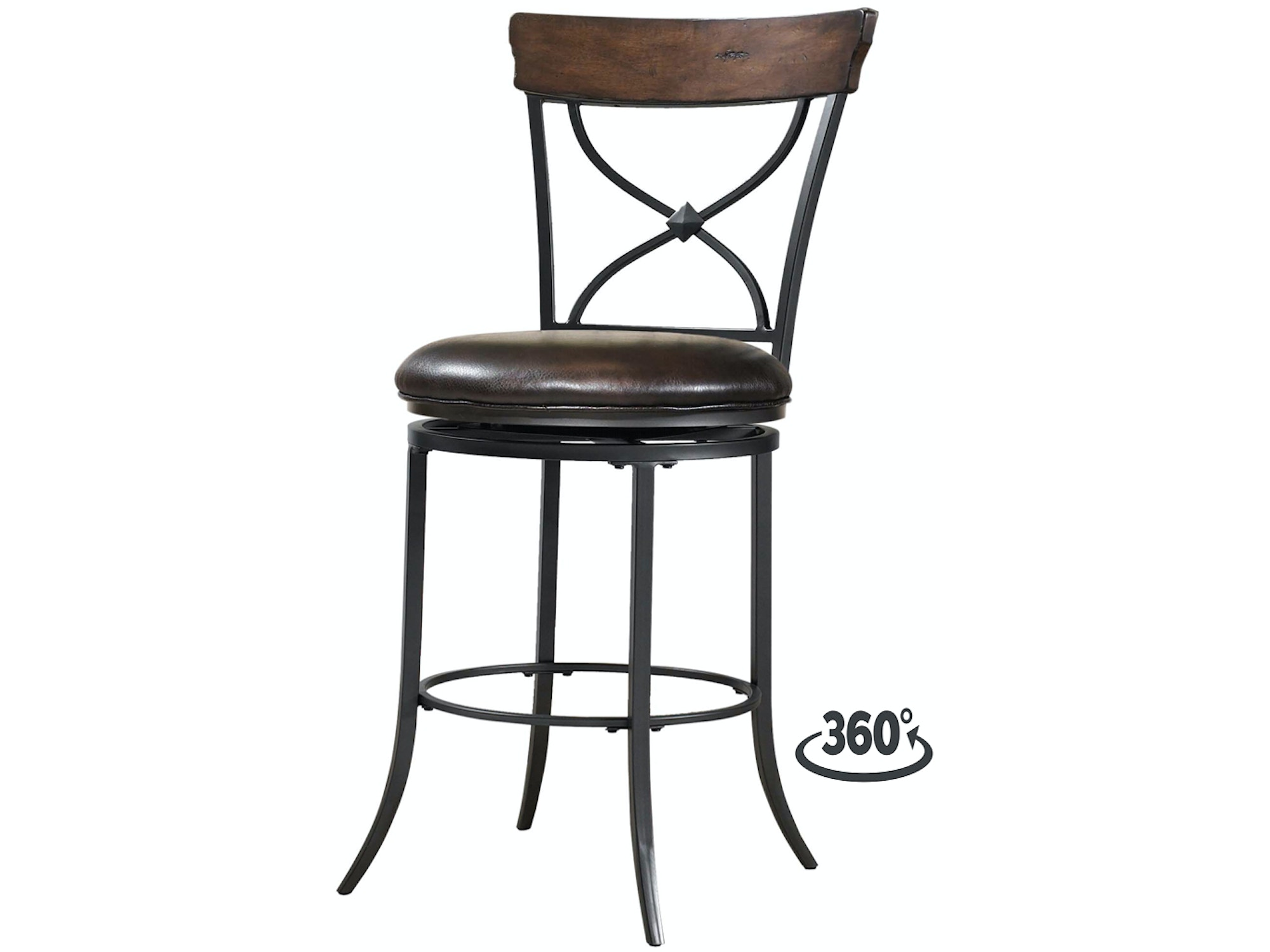 Cameron X-Back Swivel Counter Stool 054116