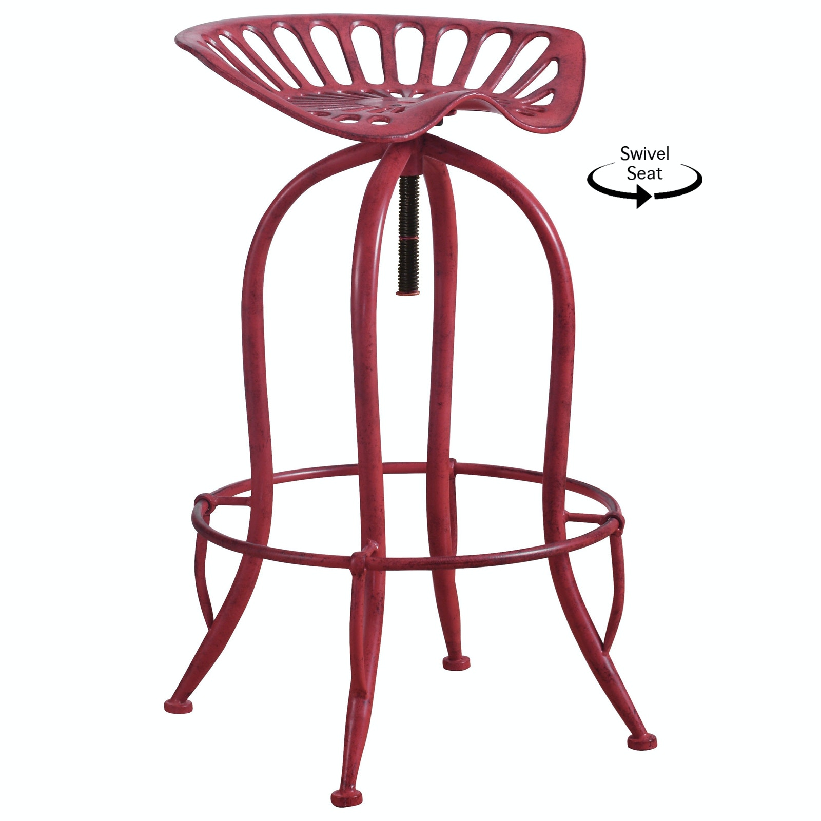 coaster co of america tractor seat barstool red