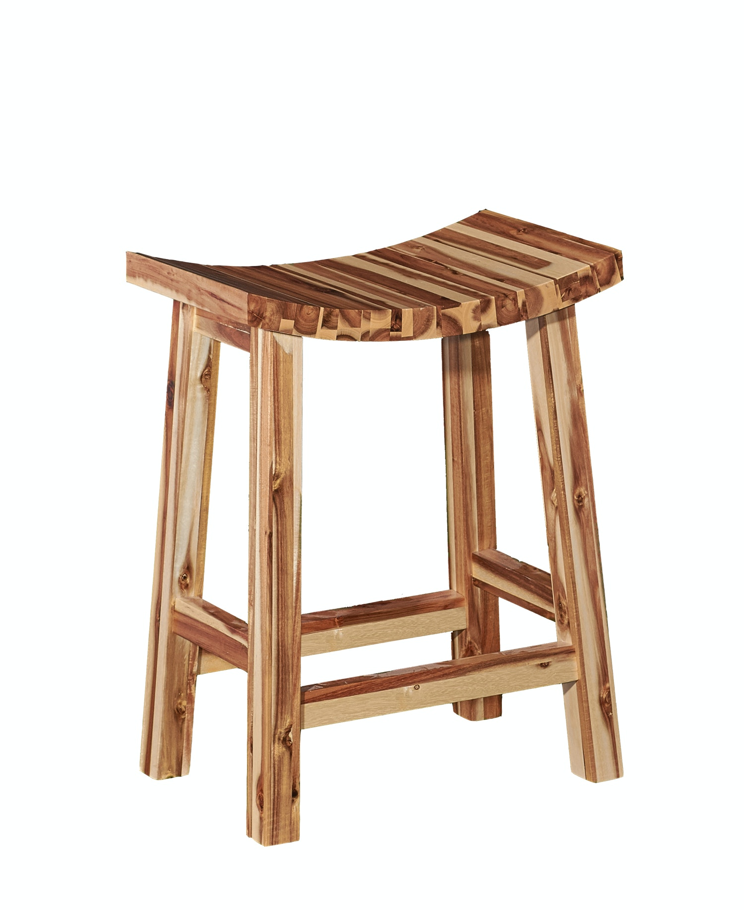 ... With Natural Finish Allowing The True Beauty Of Multi Colored Natural  Wood Finish To Shine. Archer Saddle Counter Stool 054344 Powell Furniture