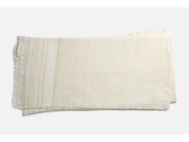 Alissa Ivory & Beige Throw 054732