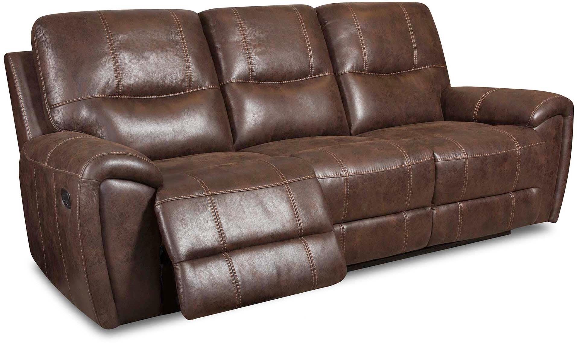 Corinthian Living Room Desert Chocolate Power Reclining Sofa