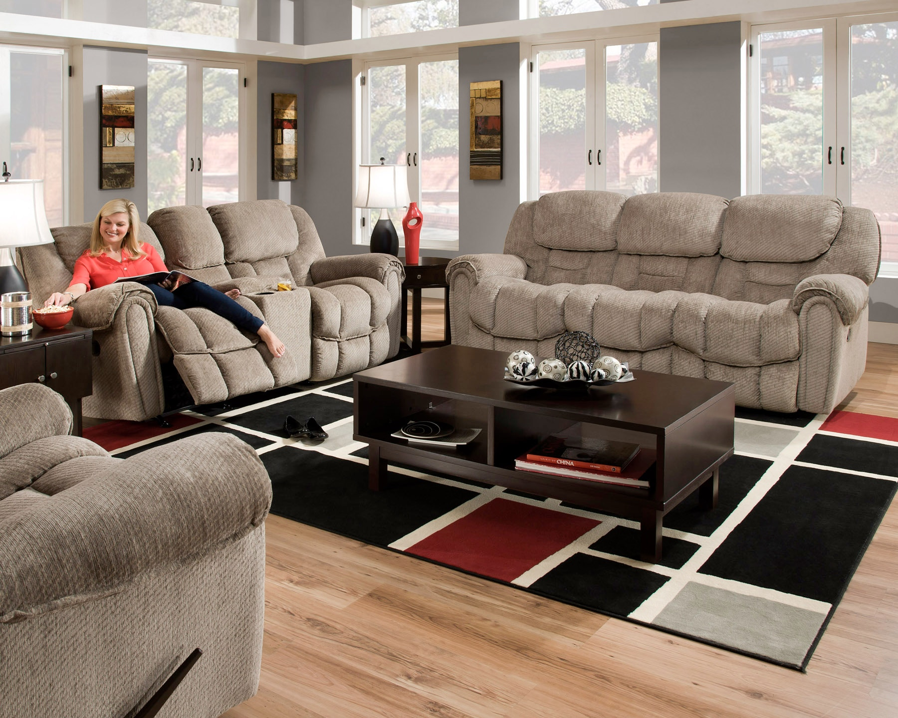 Home Stretch Living Room Del Mar Reclining Sofa Furniture