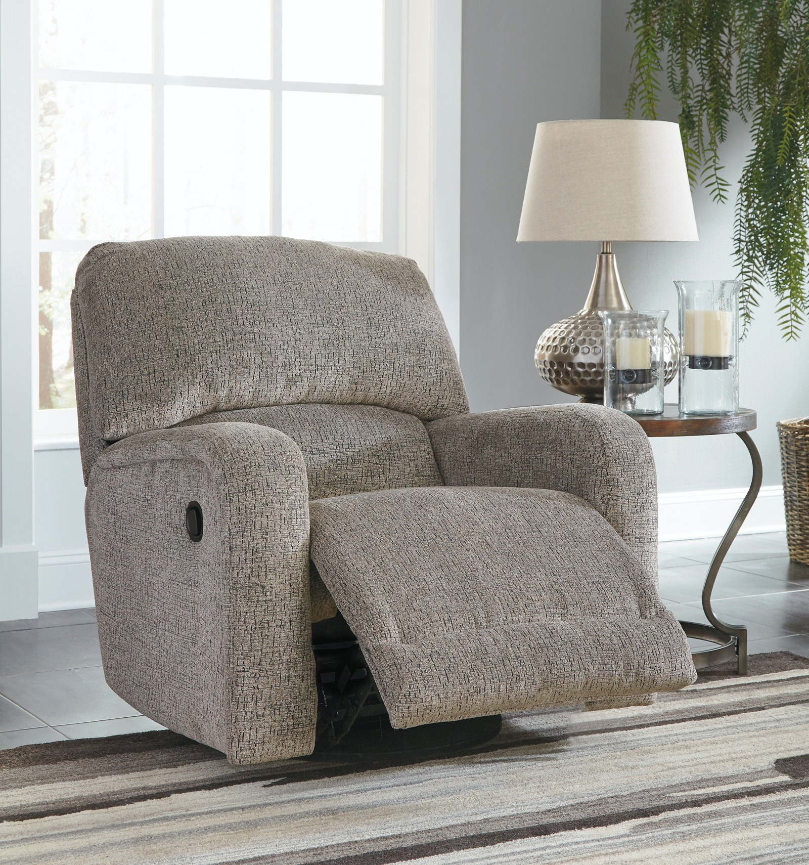 signature design by ashley pittsfield swivel glider recliner