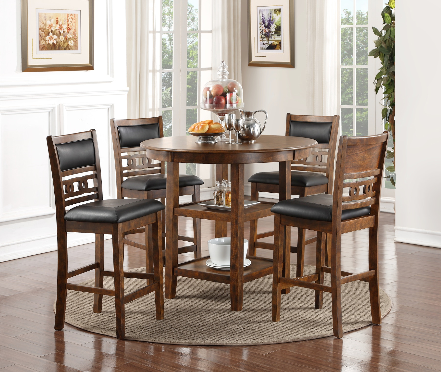 New Classic Home Furnishings Inc. Gia Pub Dining Set   Brown 055763