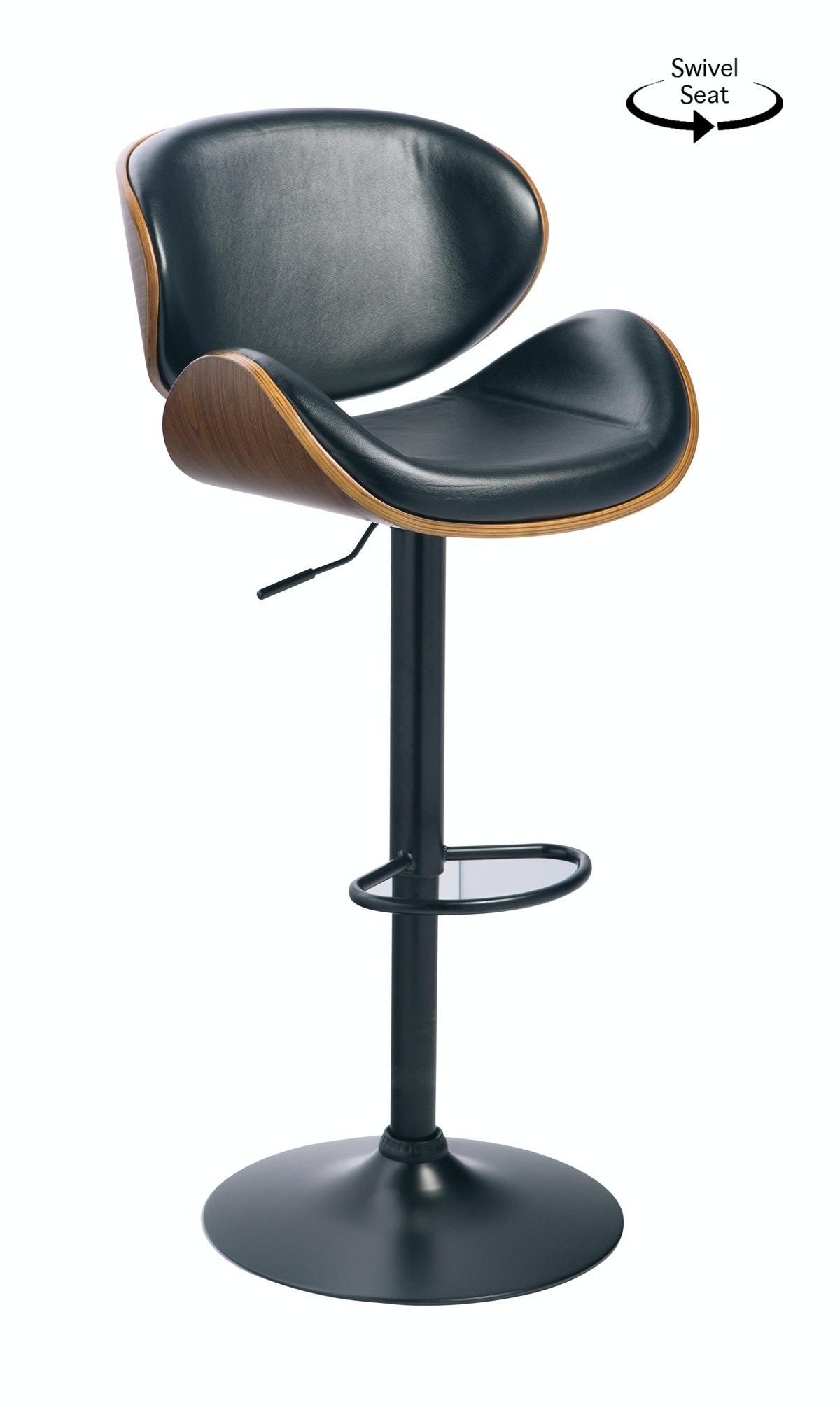 Captivating Signature Design By Ashley Adjustable Swivel Barstool   Black 055816