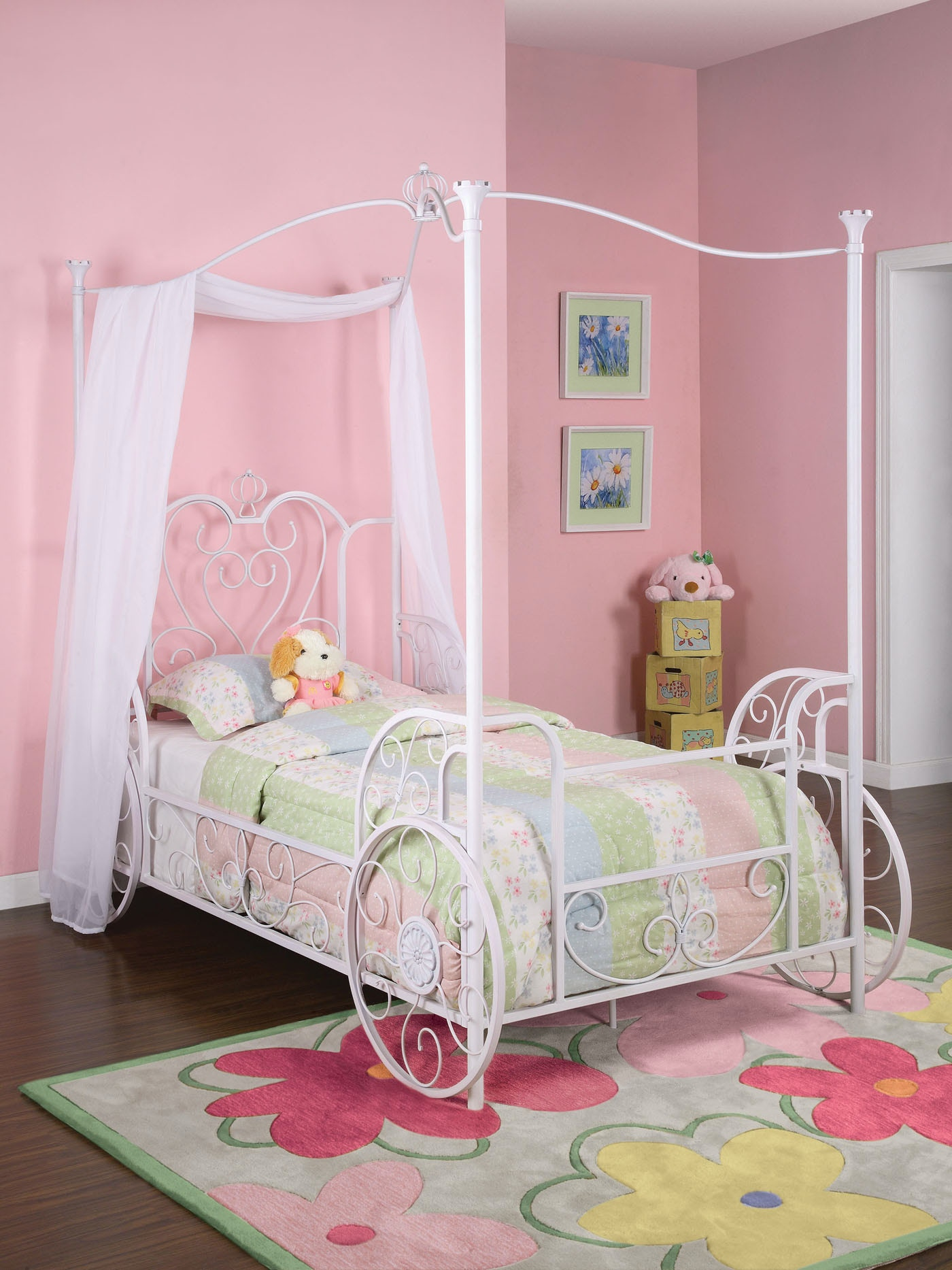 powell furniture youth princess emily carriage bed twin 055827