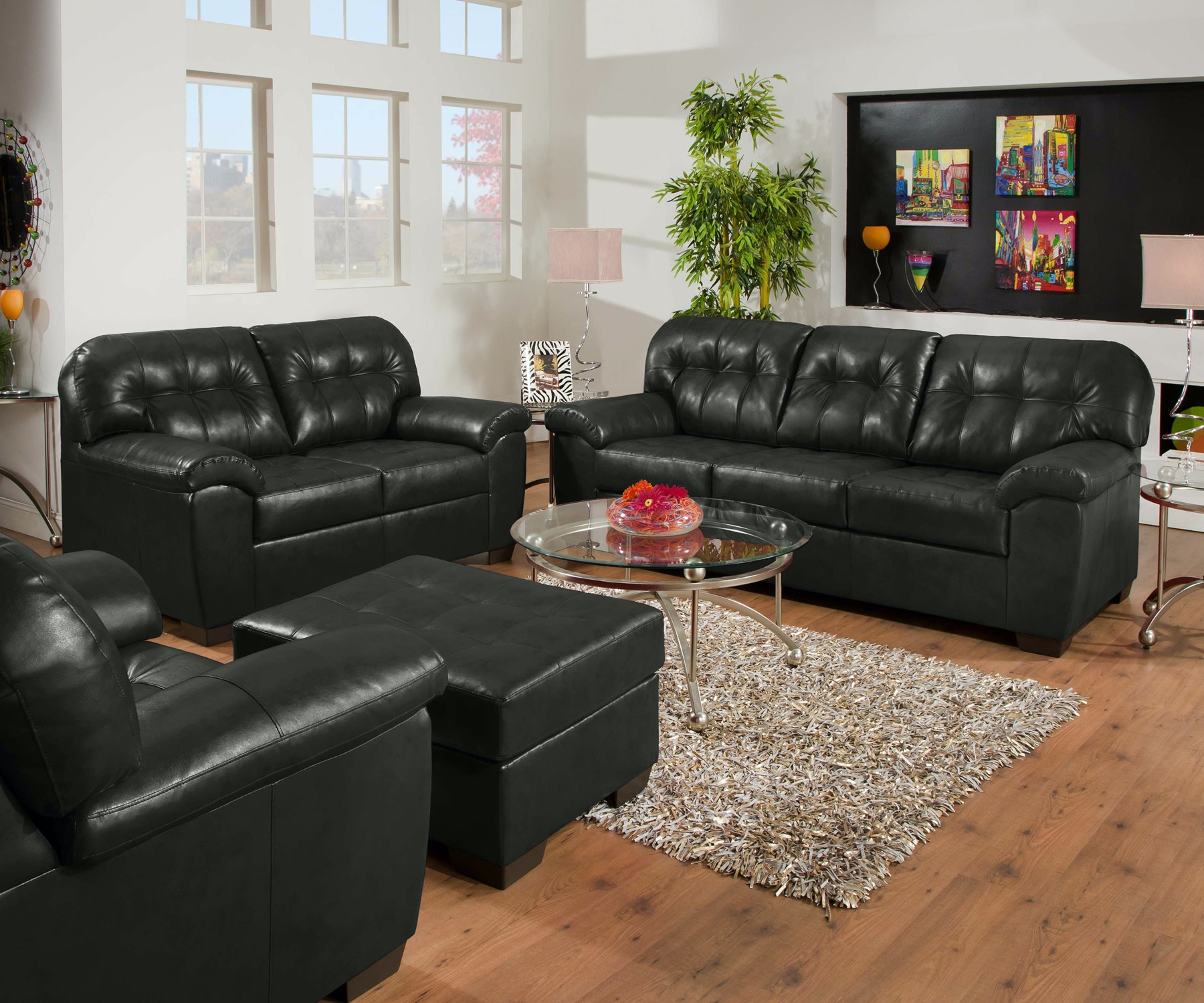 Simmons Upholstery Showtime Sofa   Onyx 055854