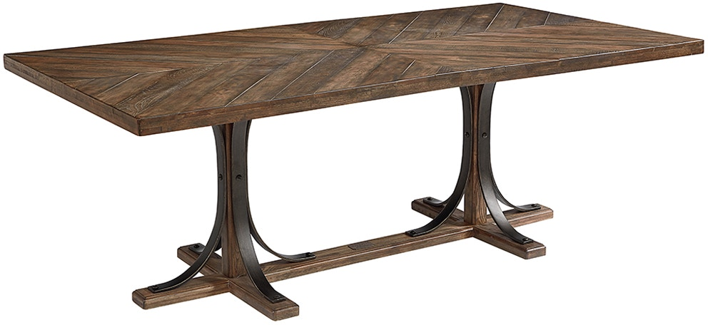 Magnolia Home Dining Room Iron Trestle Dining Table 055882 ...