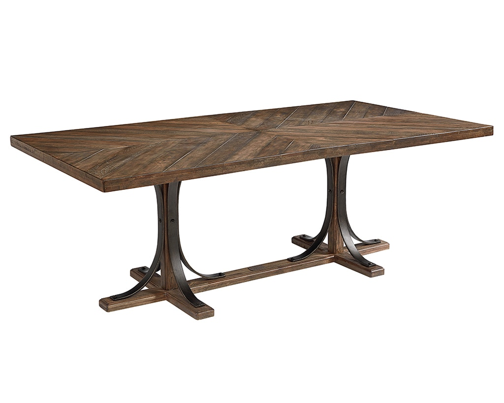 Magnolia Home Iron Trestle Dining Table 055882