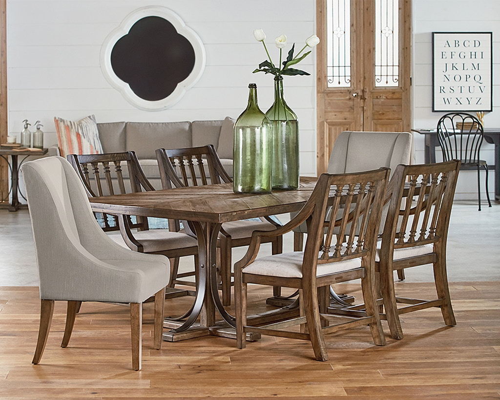 Magnolia Home Iron Trestle Dining Table 055882