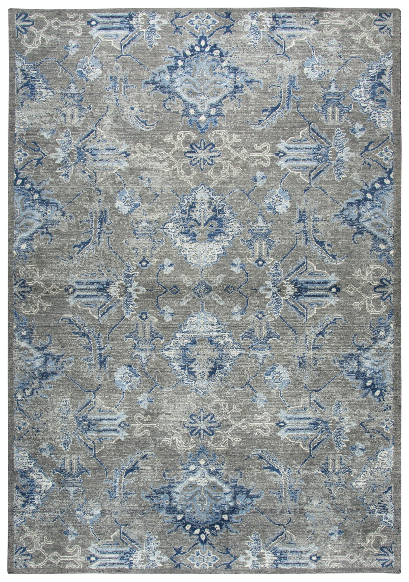 Famous Rizzy Home Accessories Gossamer Gray-Blue Rug - 8X10 055924  LA94
