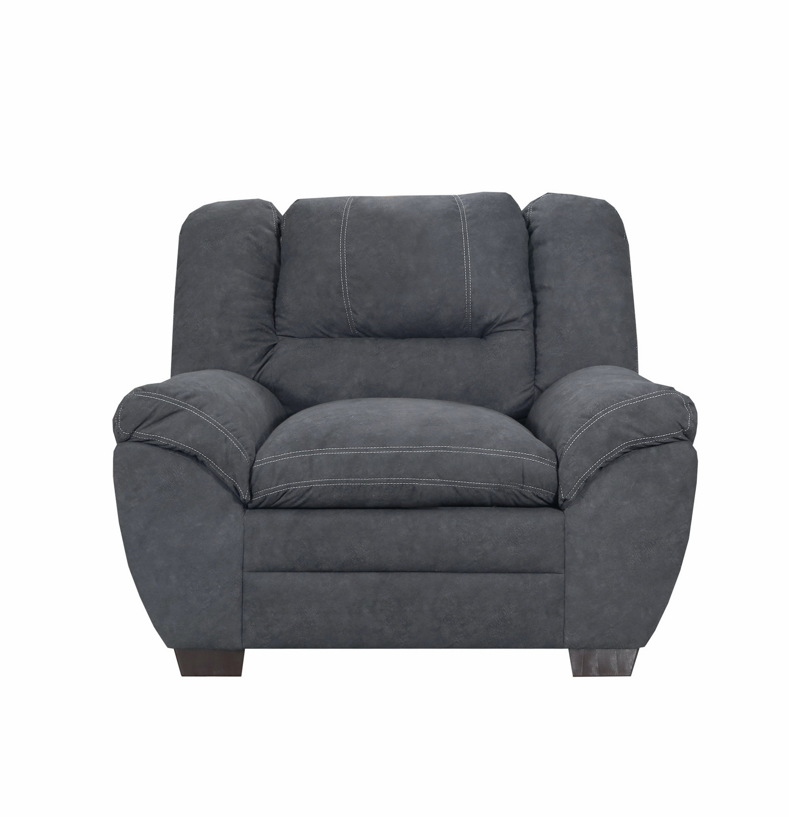 Simmons Upholstery Palermo Charcoal Chair 056834