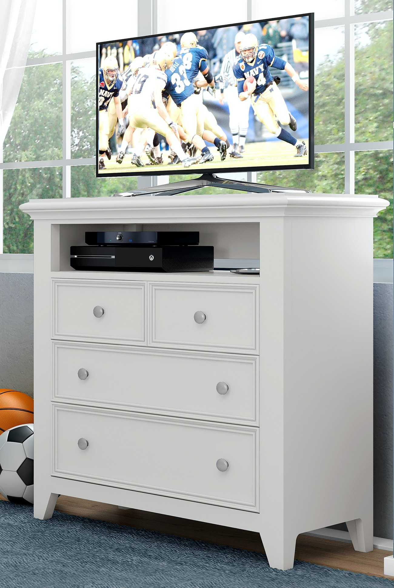 dresser dumont elm west console products white o media modern