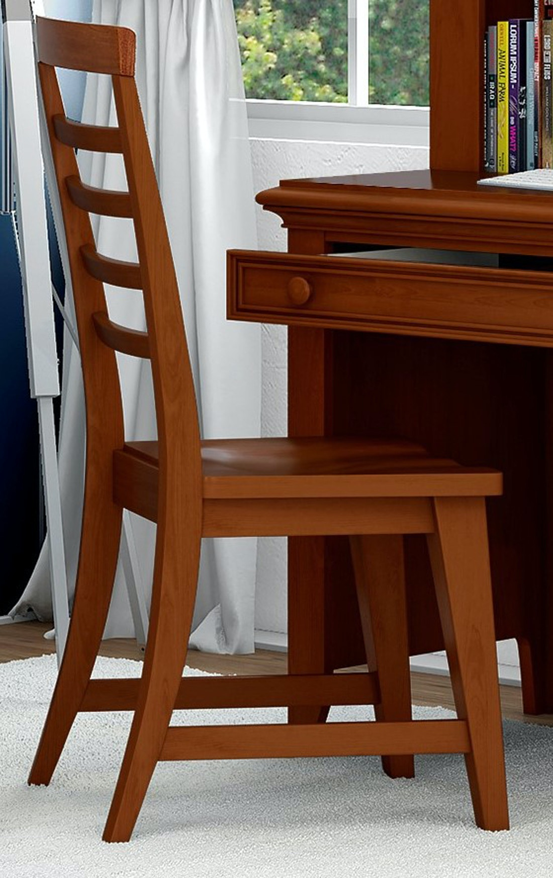 The Bailey Cherry Desk Chair Compliments The Bailey Desk And Hutch (sold  Separately) And Provides A Correlating Sitting Area. Bailey Cherry Desk  Chair ...