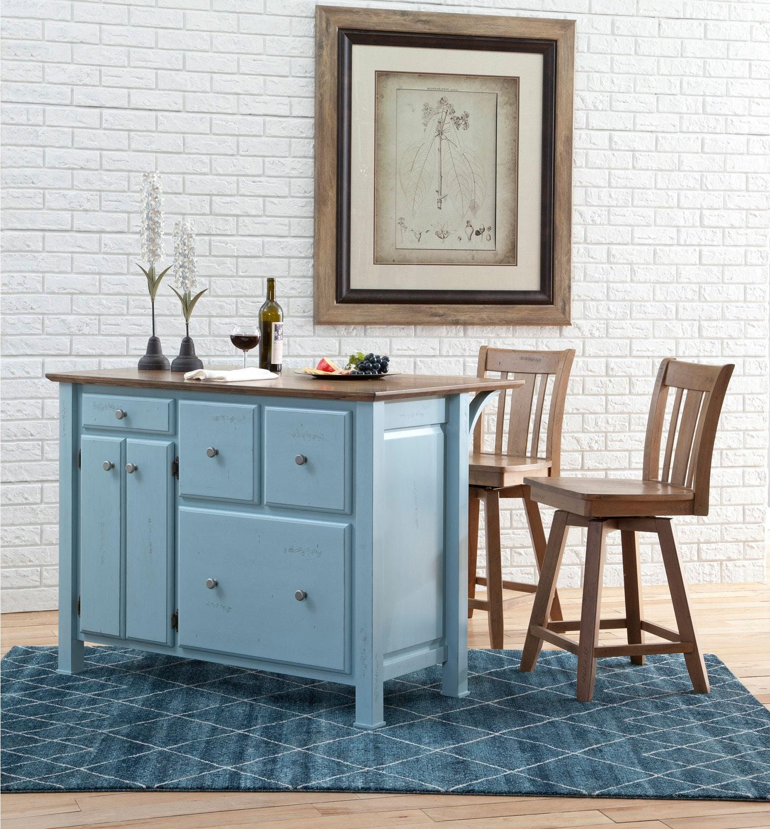 Whitewood Industries Dining Room Kitchen Island with Breakfast Bar