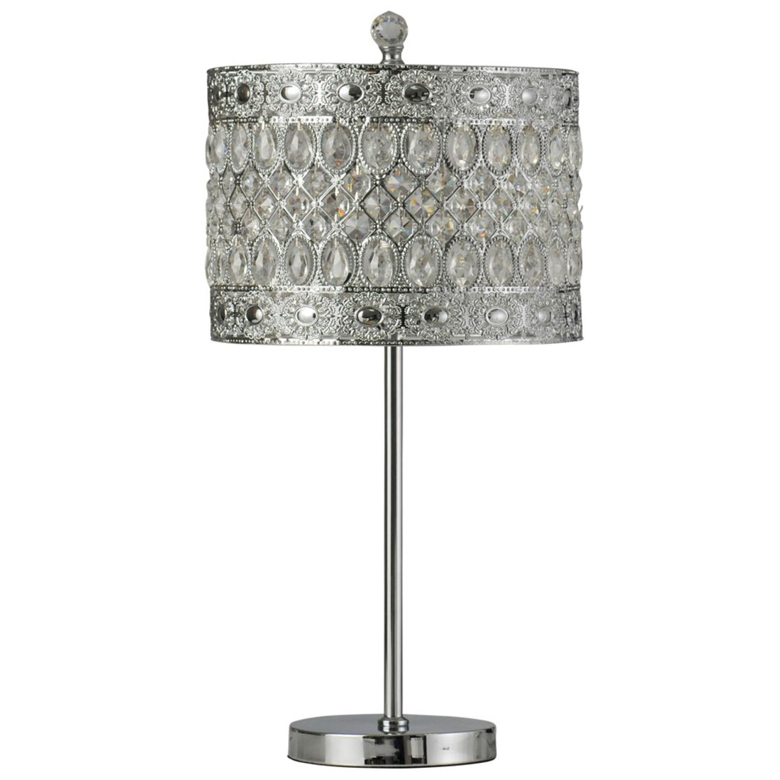 Good Stylecraft Lamps Stee And Crystal Buffet Lamp 059275