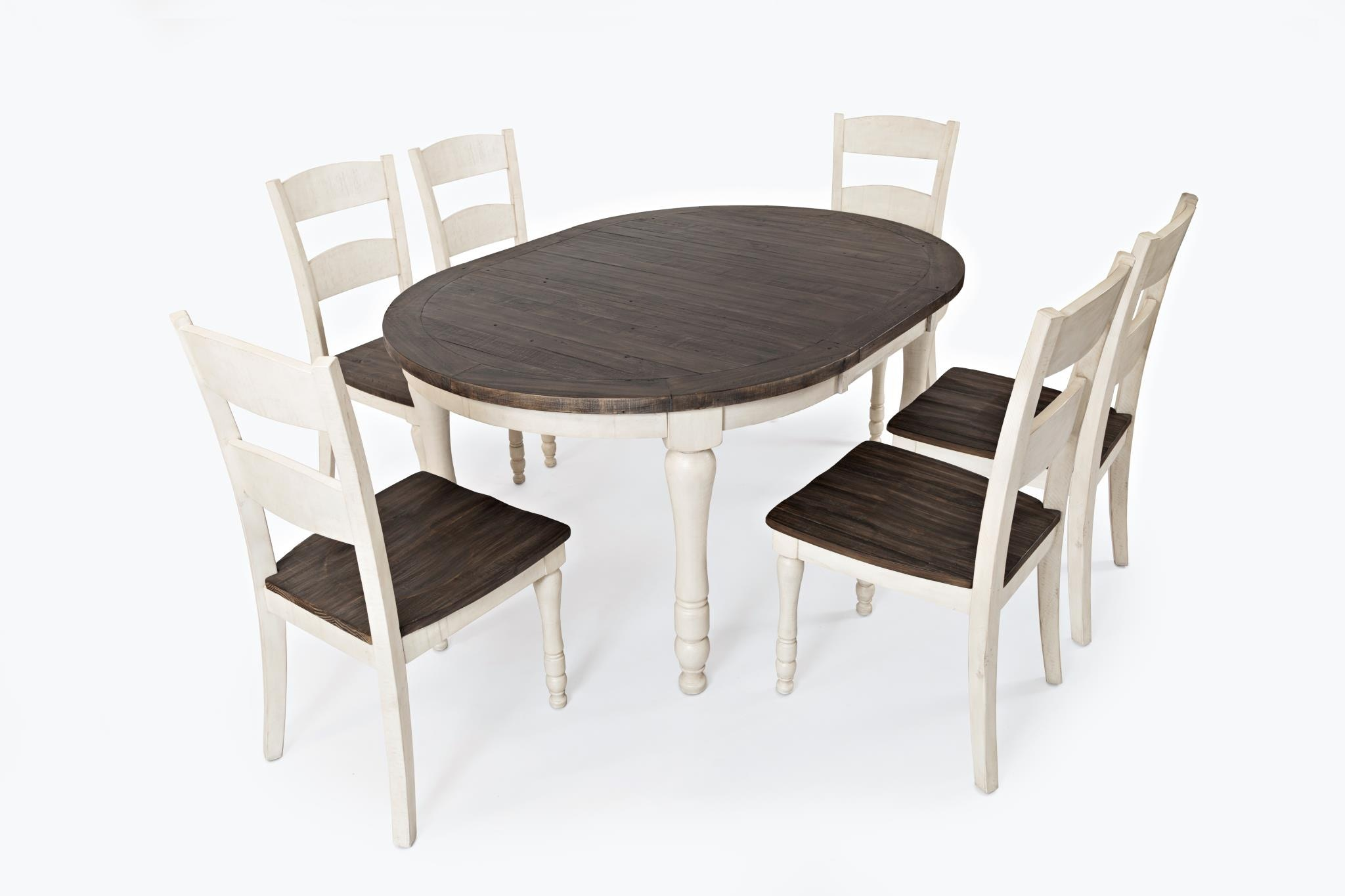 Jofran Madison County Oval Dining Set   White 062705