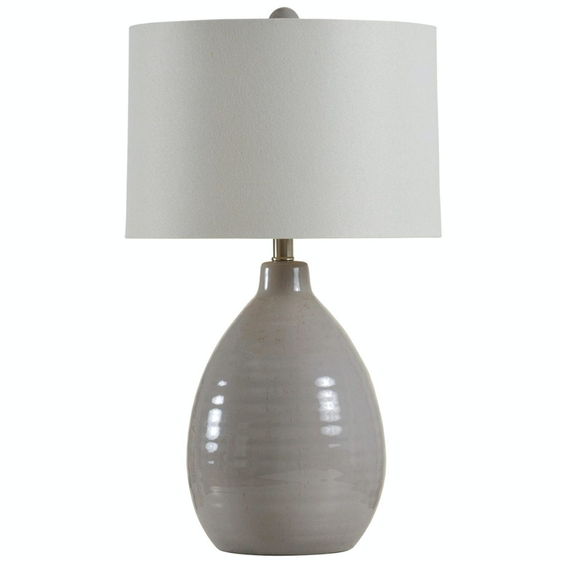 Stylecraft Lamps Cool Gray Ceramic Table Lamp 102031