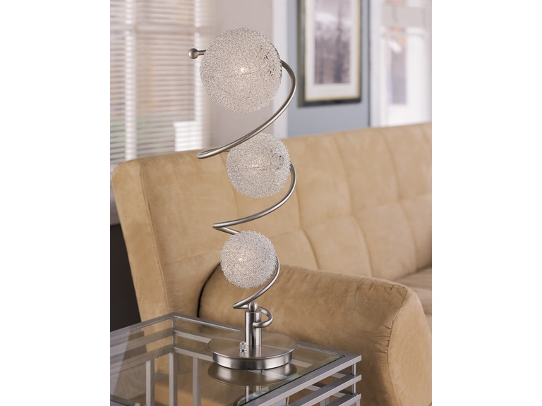 Anthony California, Inc. Sand Chrome Table Lamp 102128