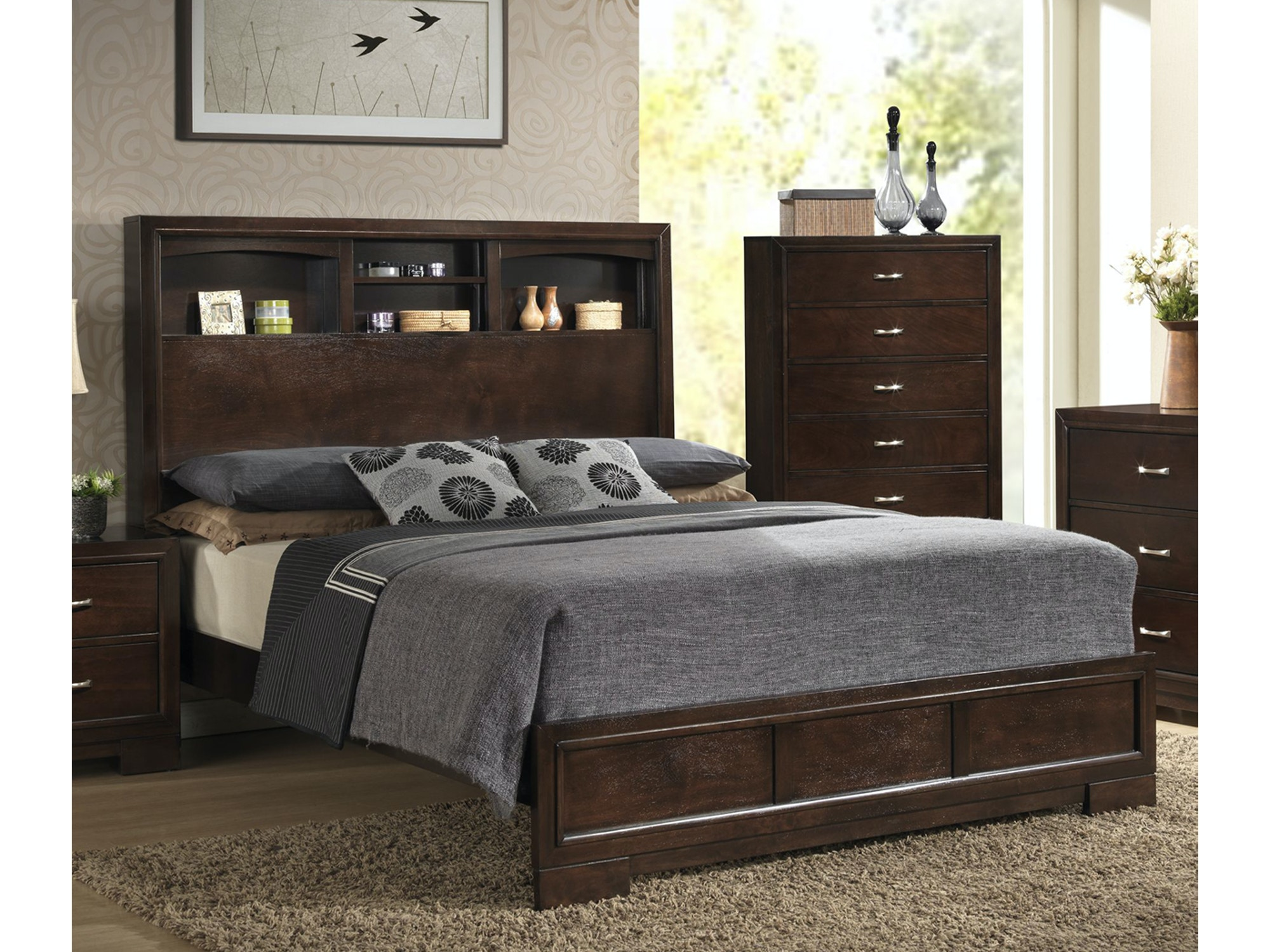 Alameda Bookcase Bed - Queen 107275