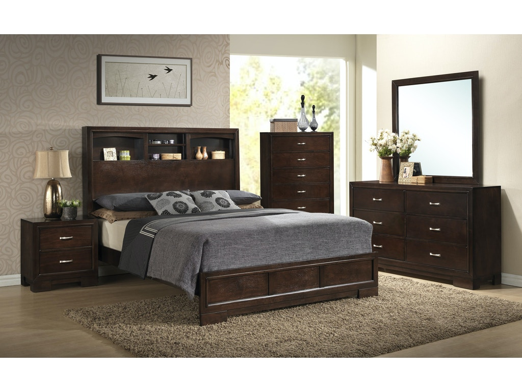 Lifestyle Bedroom Furniture Lifestyle Bedroom Alameda Bookcase Bed Queen 107275 Furniture