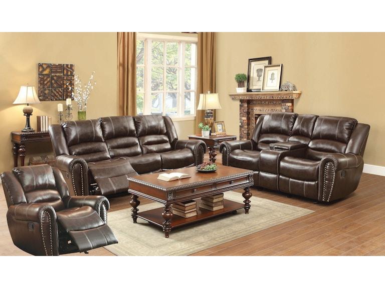 Homelegance Living Room Dallas Double Reclining Sofa 041402 ...