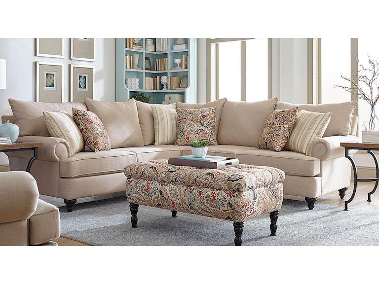 England Living Room Rosalie Sectional 120933 - Furniture Fair ...