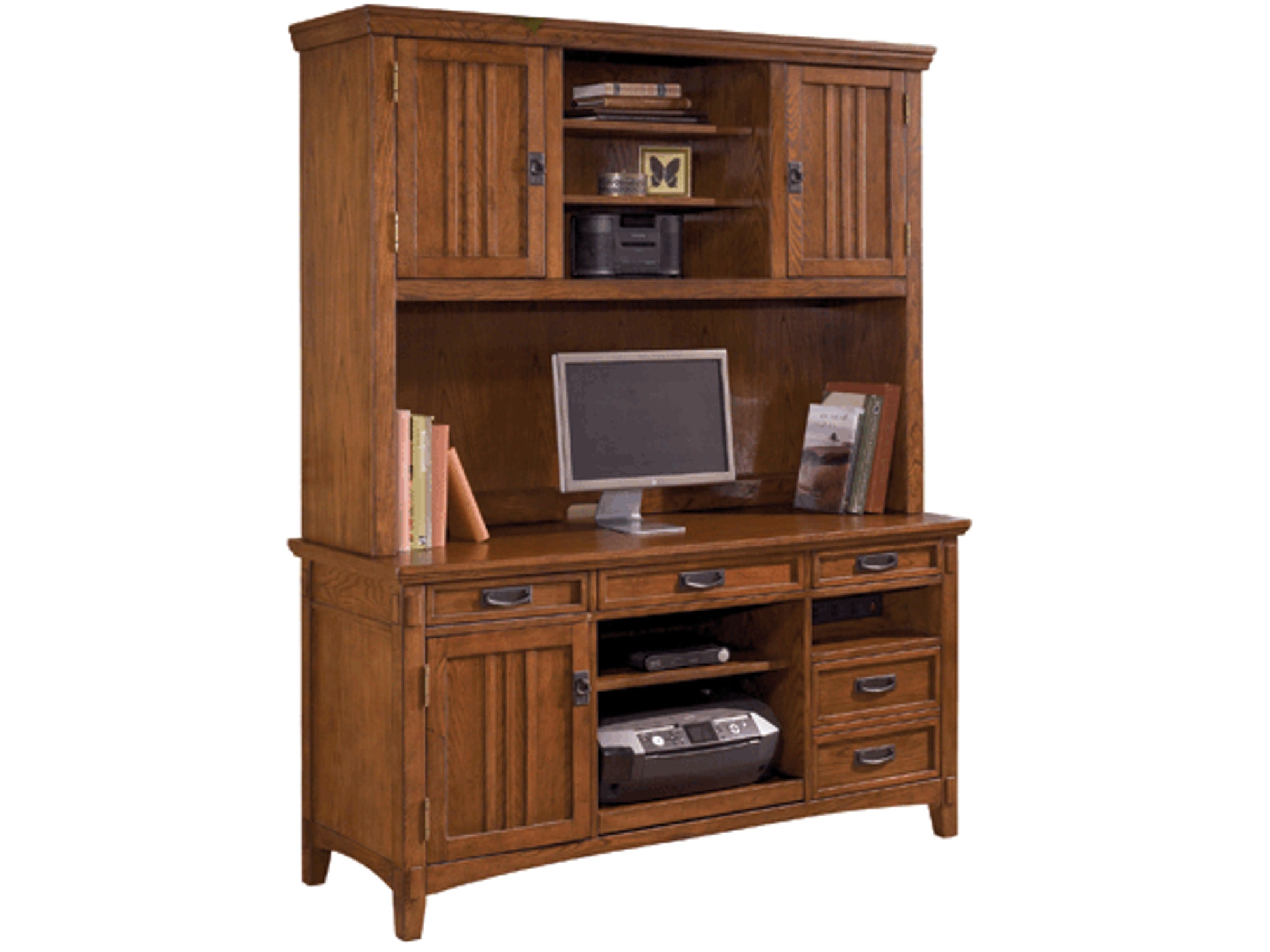 Cross Island Credenza and Hutch 129254