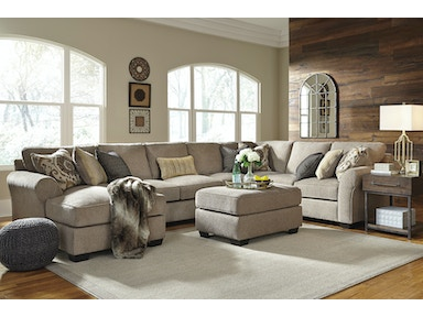 Pantomine Left Chaise Sectional with Ottoman 137508