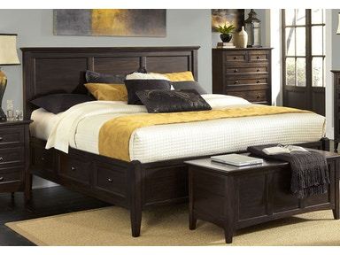 Westlake Mahogany Storage Bed - King 139684