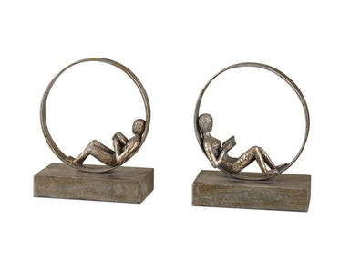 Lounging Reader Bookends 142096