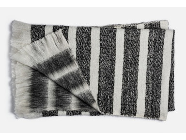 Duke Black Stripe Throw 148527