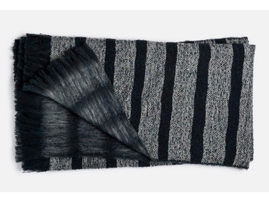 Duke Navy Stripe Throw 148843