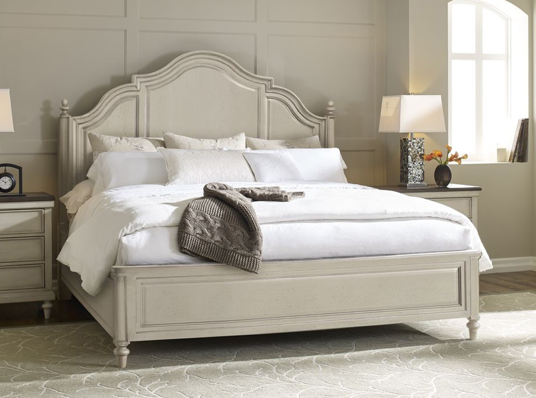 ... Vintage Linen Bed   Queen (149626) Includes The Headboard, Footboard,  And Rails. Brookhaven Vintage Linen Bed   Queen 149626 Legacy Classic  Furniture