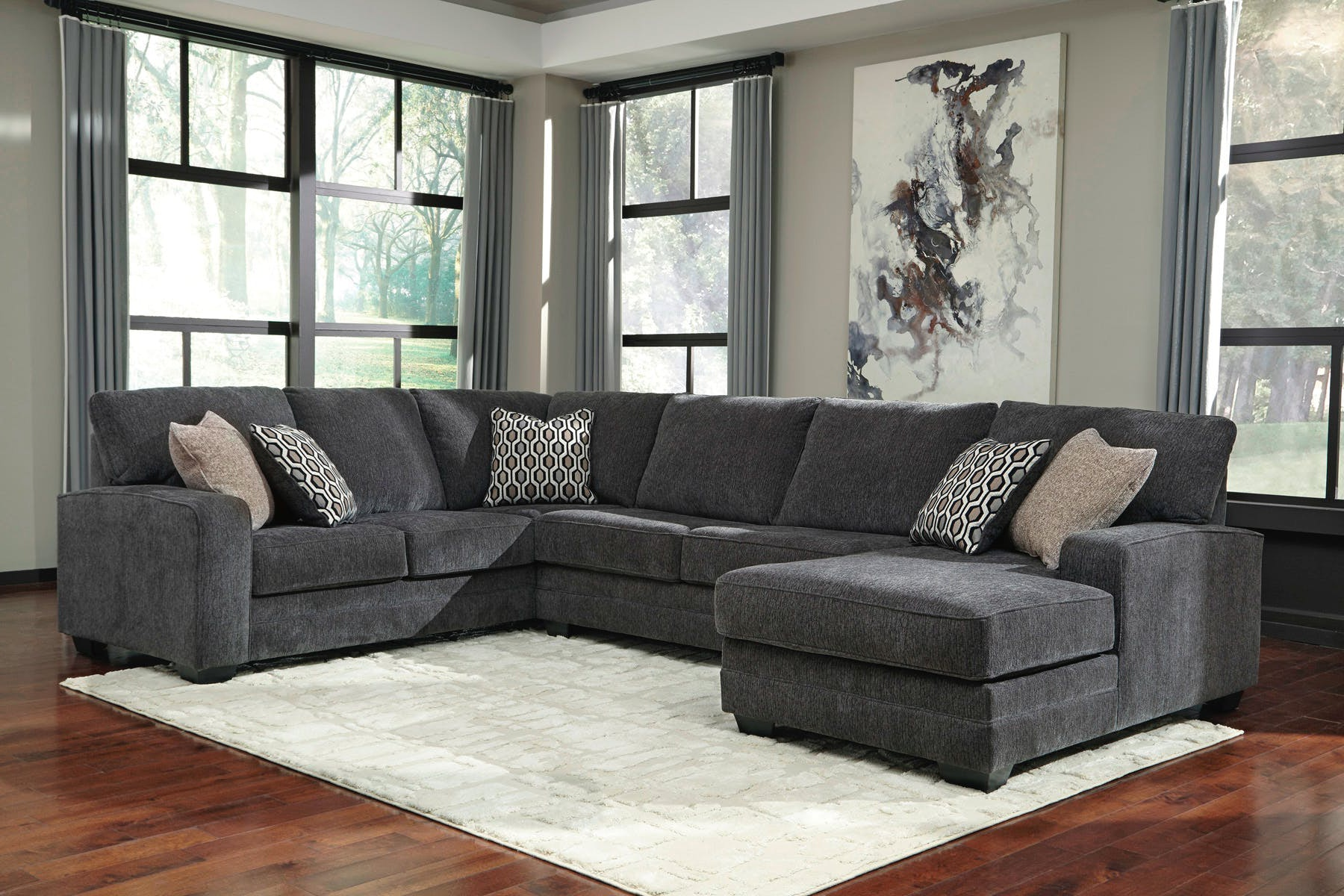 number hogan mocha signature with chaise products motion design item by piece sectional ashley