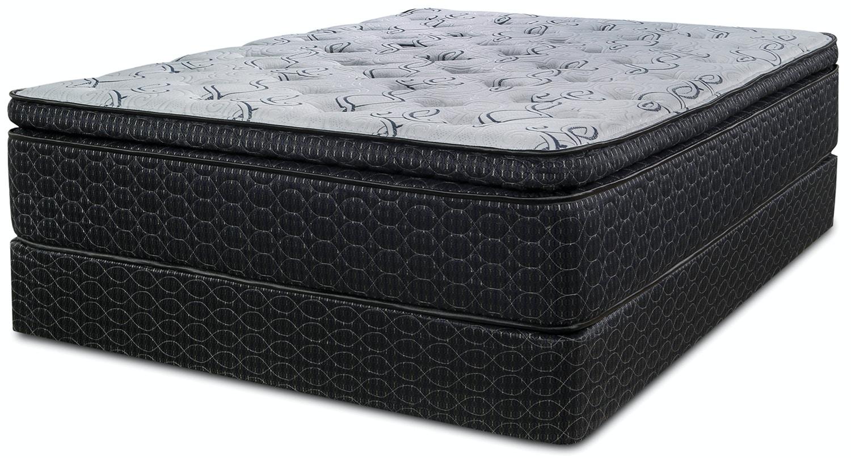lotus pillow top mattress set queen