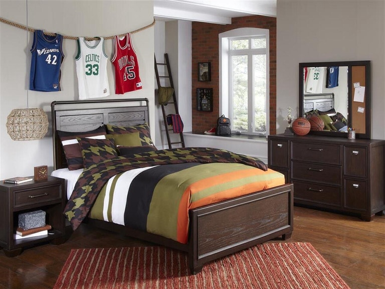 Samuel Lawrence Bedroom Clubhouse Bed - Twin 193007 - Furniture ...